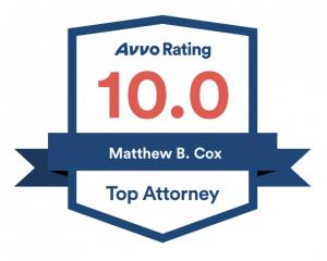 Attorney Matthew Cox Avvo badge